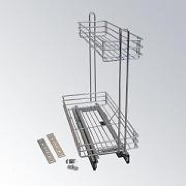 Кошница за бутилки плавно прибиране-за шкаф 300мм-10KC.0040S.300