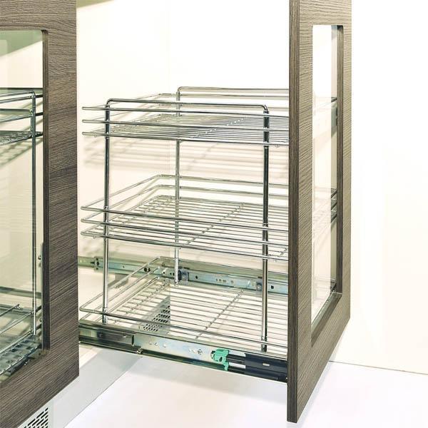 Кошница долно водене с плавно прибиране - за шкаф 450, 500 мм 10KC.1030S