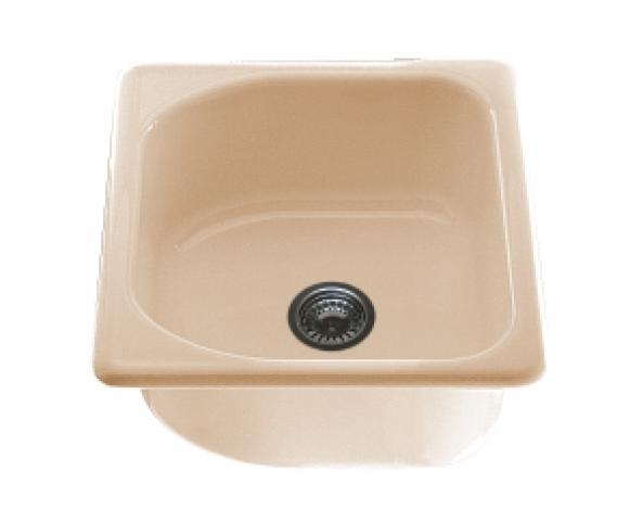 Единична мивка 2107- полимермрамор - 51 х 46 см.