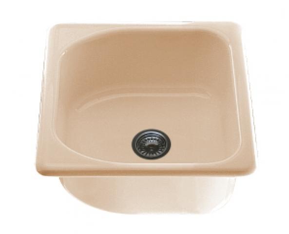 Единична мивка 2108- полимермрамор - 51 х 51 см.