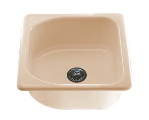 Единична мивка 2109- полимермрамор - 51 х 56 см.