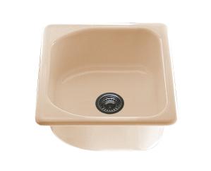 Единична мивка 2117- полимермрамор - 43 х 46 см.