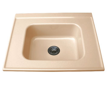 Свободностояща    мивка за модул единична 2119- полимермрамор-80х60см.