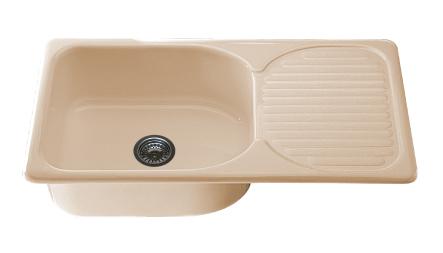 Мивка с ляв - /десен плот/ 2311-полимермрамор-90х49см.