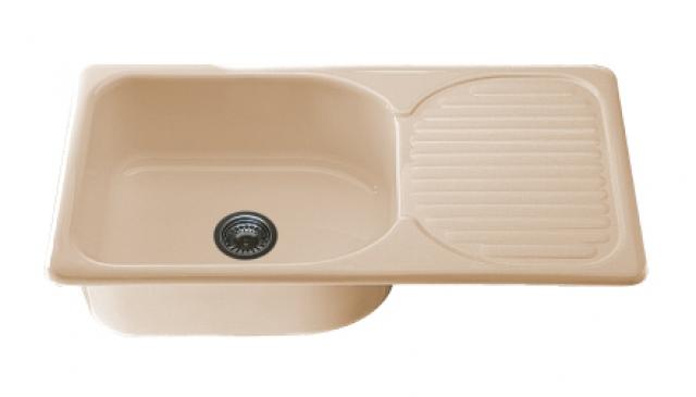 Мивка с ляв- /десен плот/ 2315- полимермрамор- 80х49см.