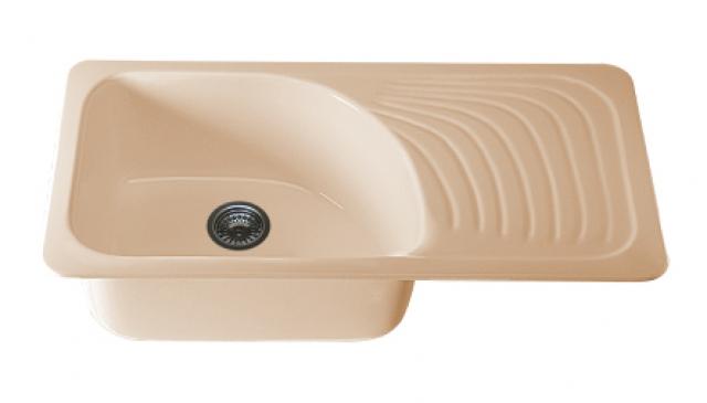 Мивка с  десен плот 2605- полимермрамор-90 х49см.
