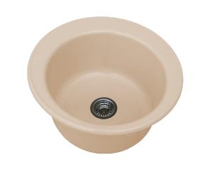 Кръгла мивка 2020- полимермрамор - дълбочина 21 см.