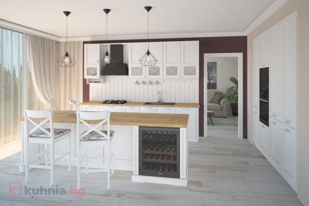 Бяла ретро кухня Виолета