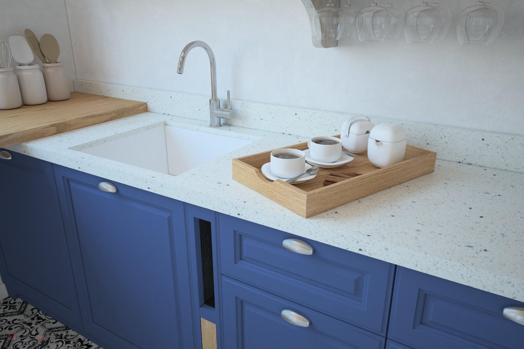 сини кухненски шкафове