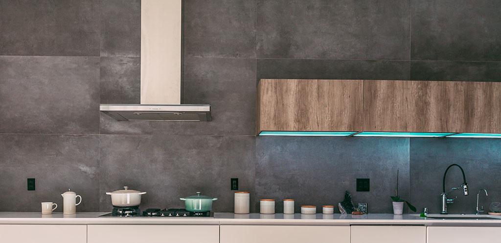 осветление по гърба на кухнята