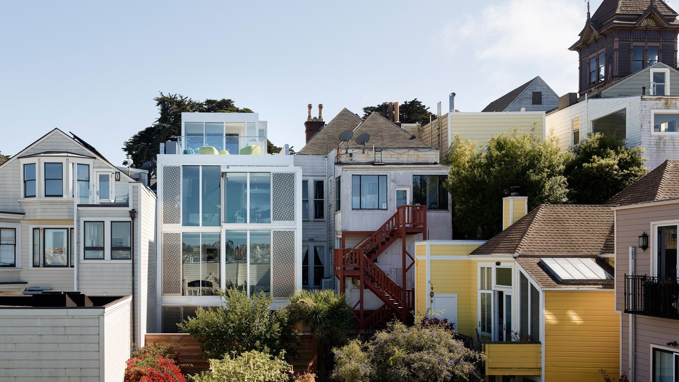Интересен минималистичен интериор за къща в Сан Франциско