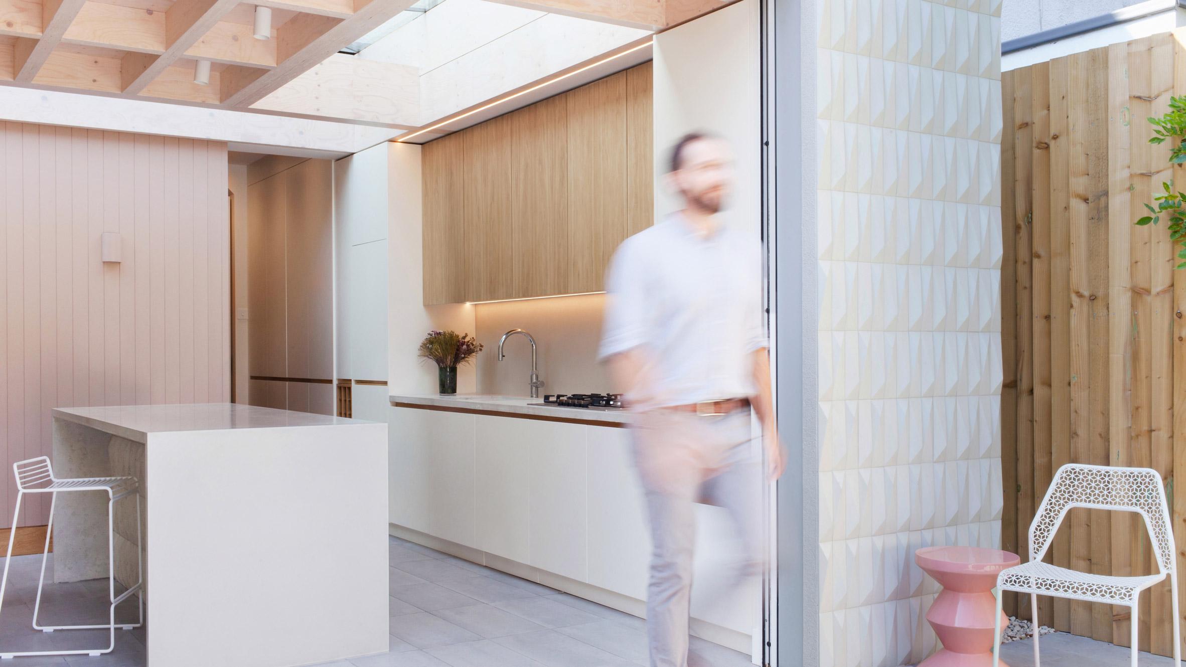 3D плочки са използвани при реновиране на разширение на къща в Лондон