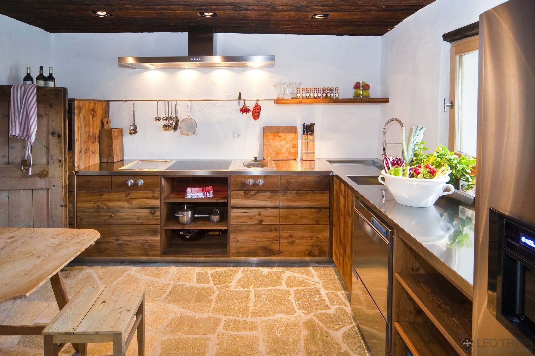 Алпийски стил в дизайна на кухни