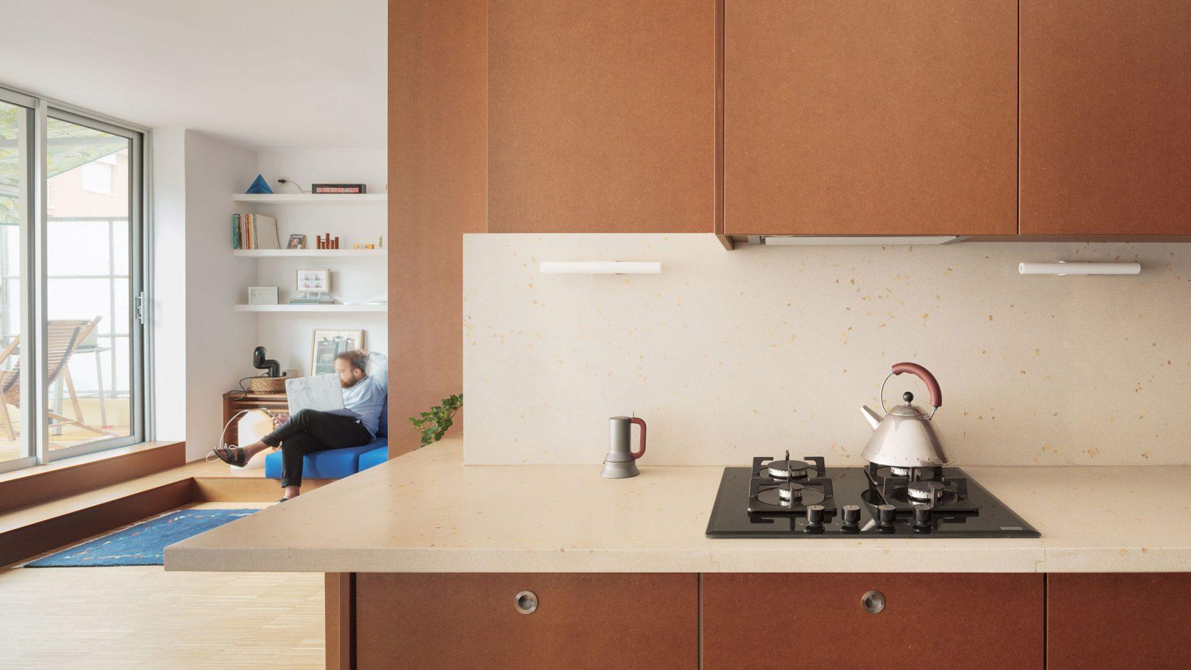 Дизайн с мебели от МДФ създава уютна обстановка
