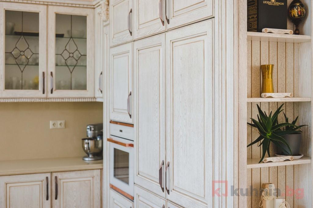 Етажерките в кухнята - простор и раздвиженост в дизайна