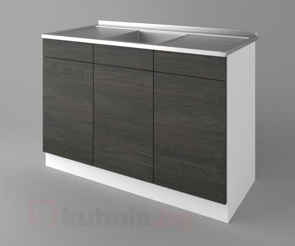 Долен кухненски шкаф с мивка - с две работещи чекмеджета Вега