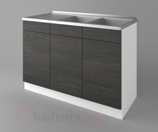 Долен кухненски шкаф с двукоритна мивка Вега