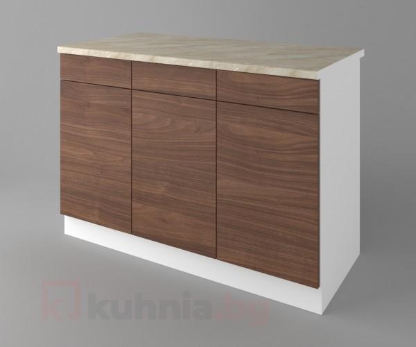 Долен кухненски шкаф с три чекмеджета и три врати Атлас