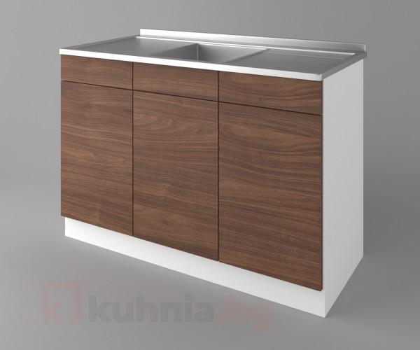 Долен кухненски шкаф с мивка - с две работещи чекмеджета Атлас