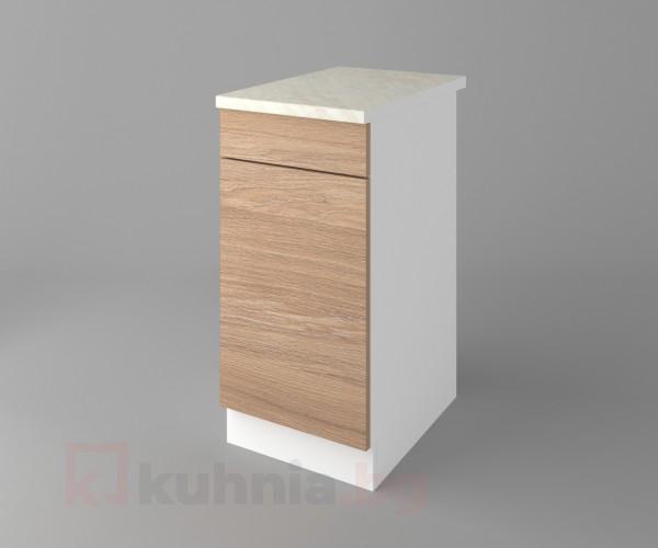 Долен кухненски шкаф с чекмедже и една врата Поларис