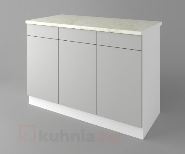 Долен кухненски шкаф с три врати и три чекмеджета Мирта