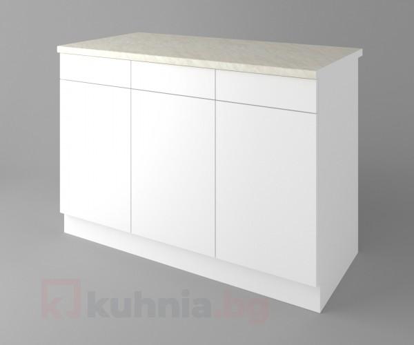 Долен кухненски шкаф с три чекмеджета и три врати Нарцис