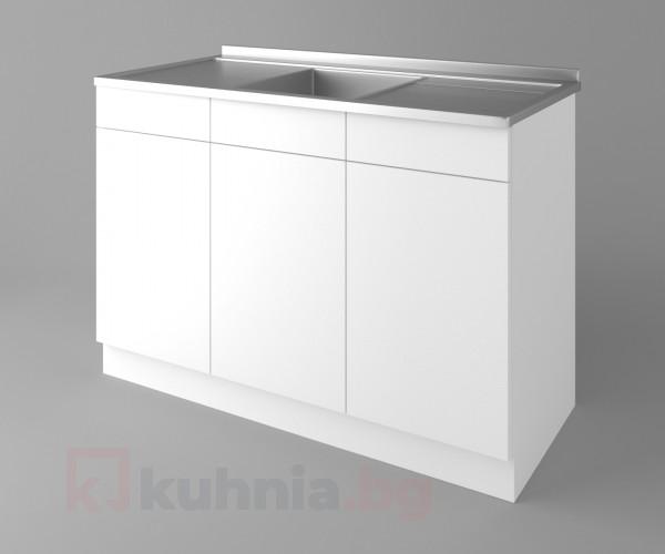 Долен кухненски шкаф с мивка - с две работещи чекмеджета  Нарцис