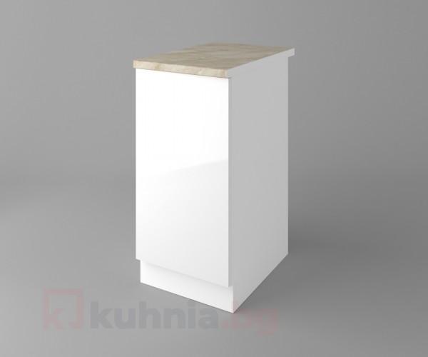 Долен кухненски шкаф с една врата Нарцис - Гланц