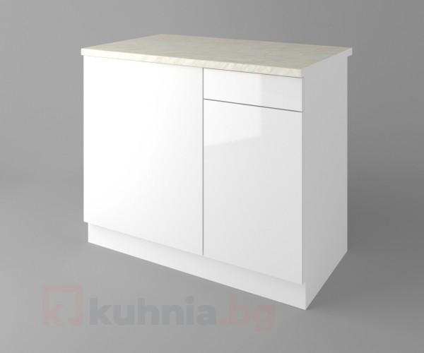 Долен кухненски шкаф за ъгъл Нарцис гланц