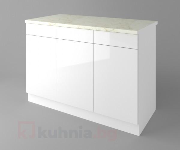 Долен кухненски шкаф с три чекмеджета и три врати Нарцис - Гланц