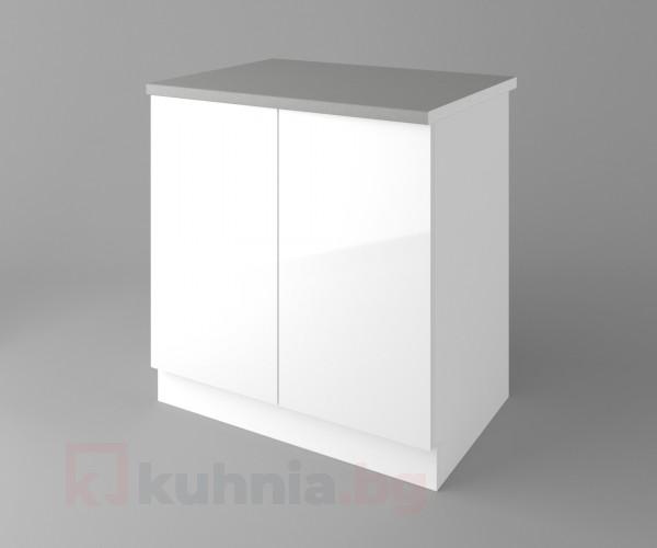 Долен кухненски шкаф с две врати Нарцис - Гланц