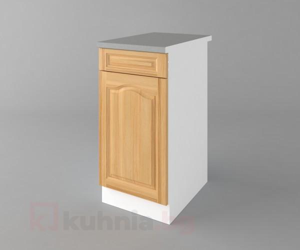 Долен кухненски шкаф с чекмедже и една врата Астра - Натурална