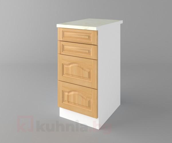 Долен кухненски шкаф с четири чекмеджета Астра - Натурална