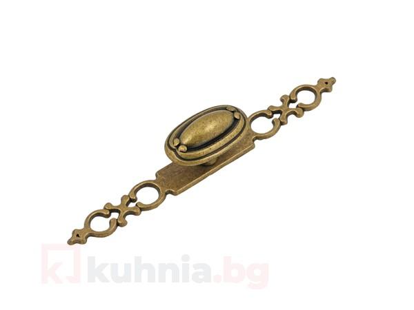 Метална дръжка старо злато 1146