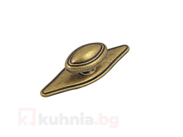Метална ретро дръжка старо злато 1152