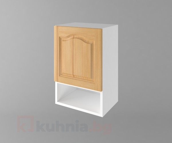 Горен кухненски шкаф с една врата и ниша Астра - Натурална