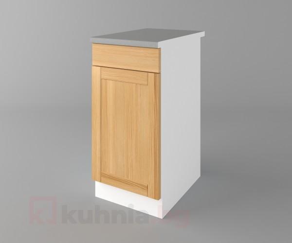 Долен кухненски шкаф с чекмедже и една врата Калатея - Натурална