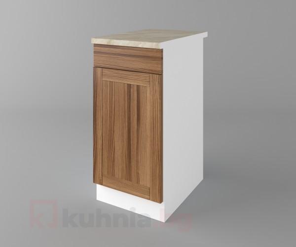 Долен кухненски шкаф с чекмедже и една врата Калатея - Канела