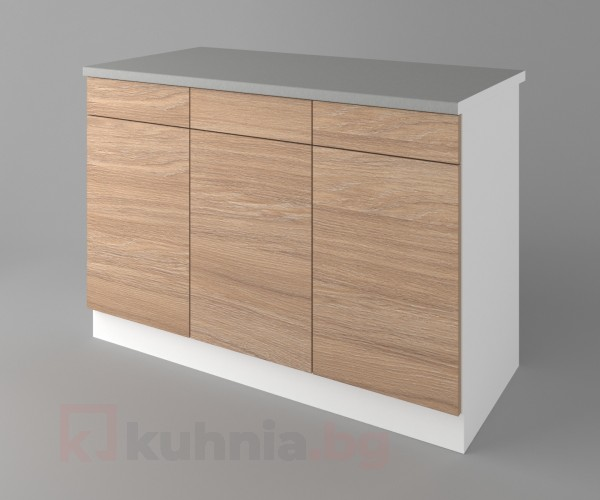 Долен кухненски шкаф с три чекмеджета и три врати Поларис