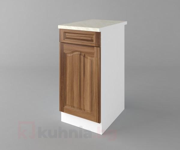 Долен кухненски шкаф с чекмедже и една врата Астра - Канела