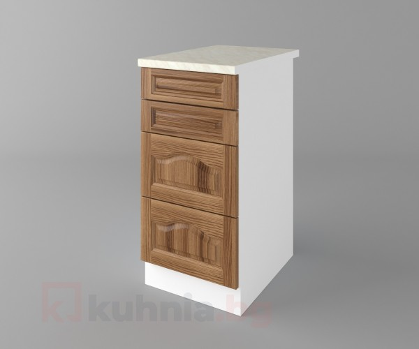 Долен кухненски шкаф с четири чекмеджета Астра - Канела