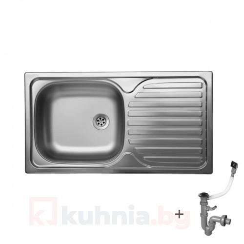 Стоманена мивка с плот 760х435х150 мм