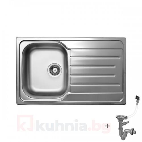 Стоманена мивка с плот 800х500х170-210 мм