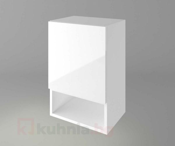 Горен кухненски шкаф с една врата и ниша Нарцис - Гланц