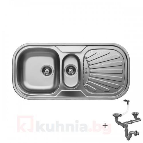 Мивка с плот и отцедник LIVINOKS 1000х300х180мм