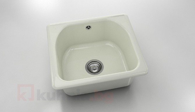 Единична мивка 207- полимермрамор - 51 х 46 см.
