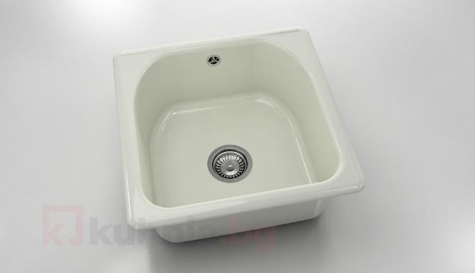 Единична мивка 208- полимермрамор - 51 х 51 см.