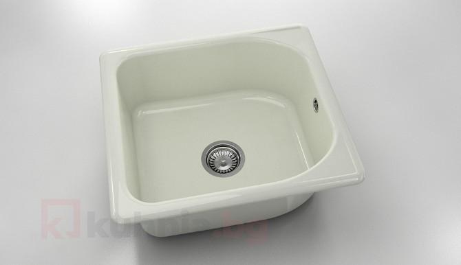 Единична мивка 209- полимермрамор - 51 х 56 см.