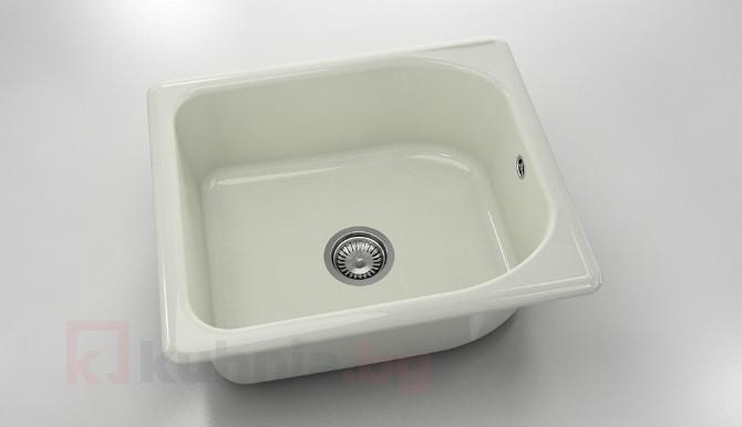 Единична мивка 210- полимермрамор - 51 х 60 см.