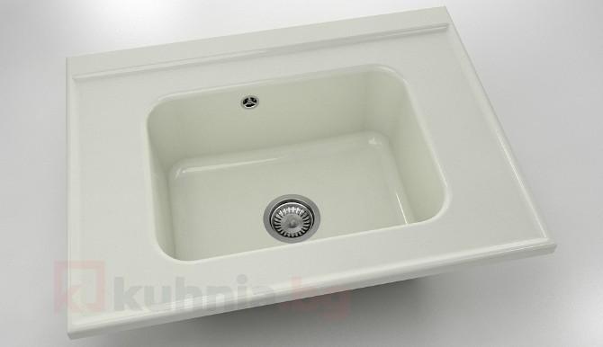 Свободностояща  мивка 219- полимермрамор-80х60см.